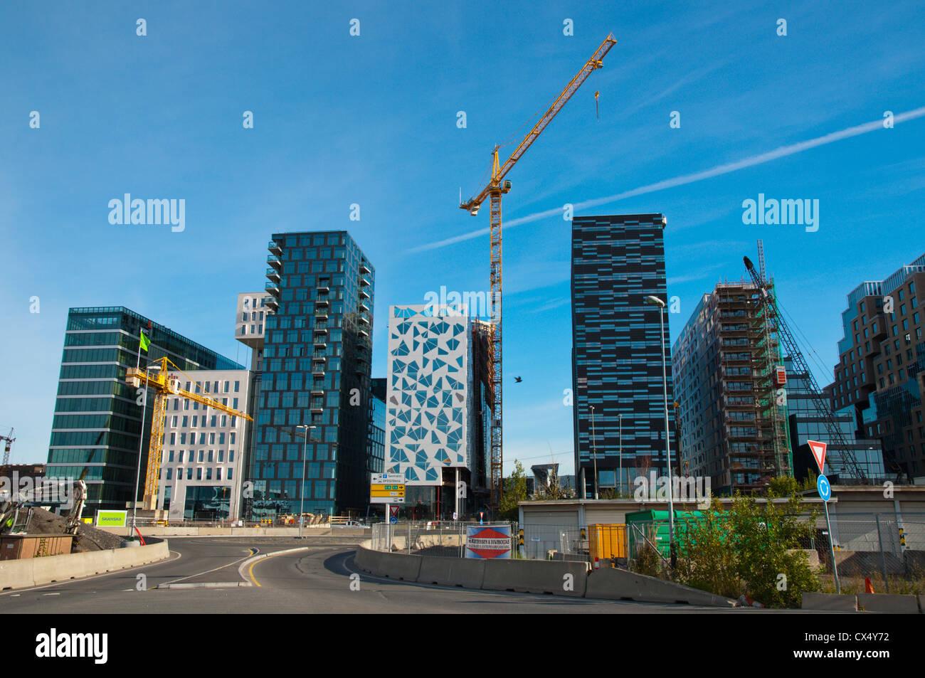 Bjorvika district Fjord City area central Oslo Norway Europe - Stock Image