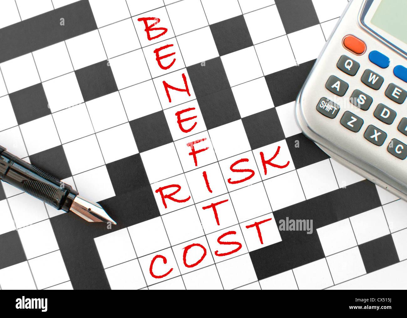 Risk versus benefits - Stock Image