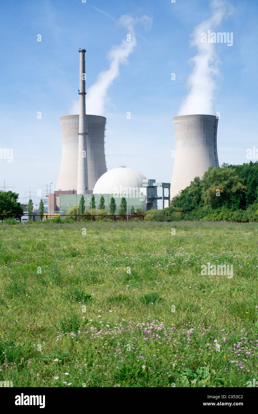 Grafenrheinfeld nuclear power station in Germany - Stock Image