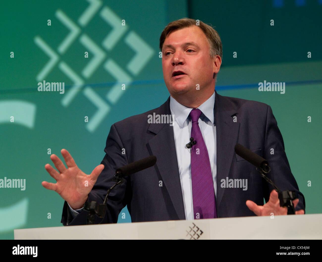 Ed Balls Shadow chancellor - Stock Image