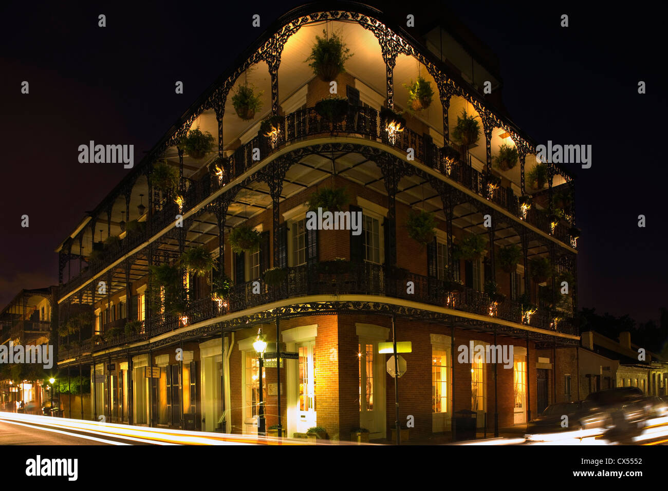MILTENBERGER HOUSE ROYAL STREET FRENCH QUARTER DOWNTOWN NEW ORLEANS LOUISIANA USA - Stock Image