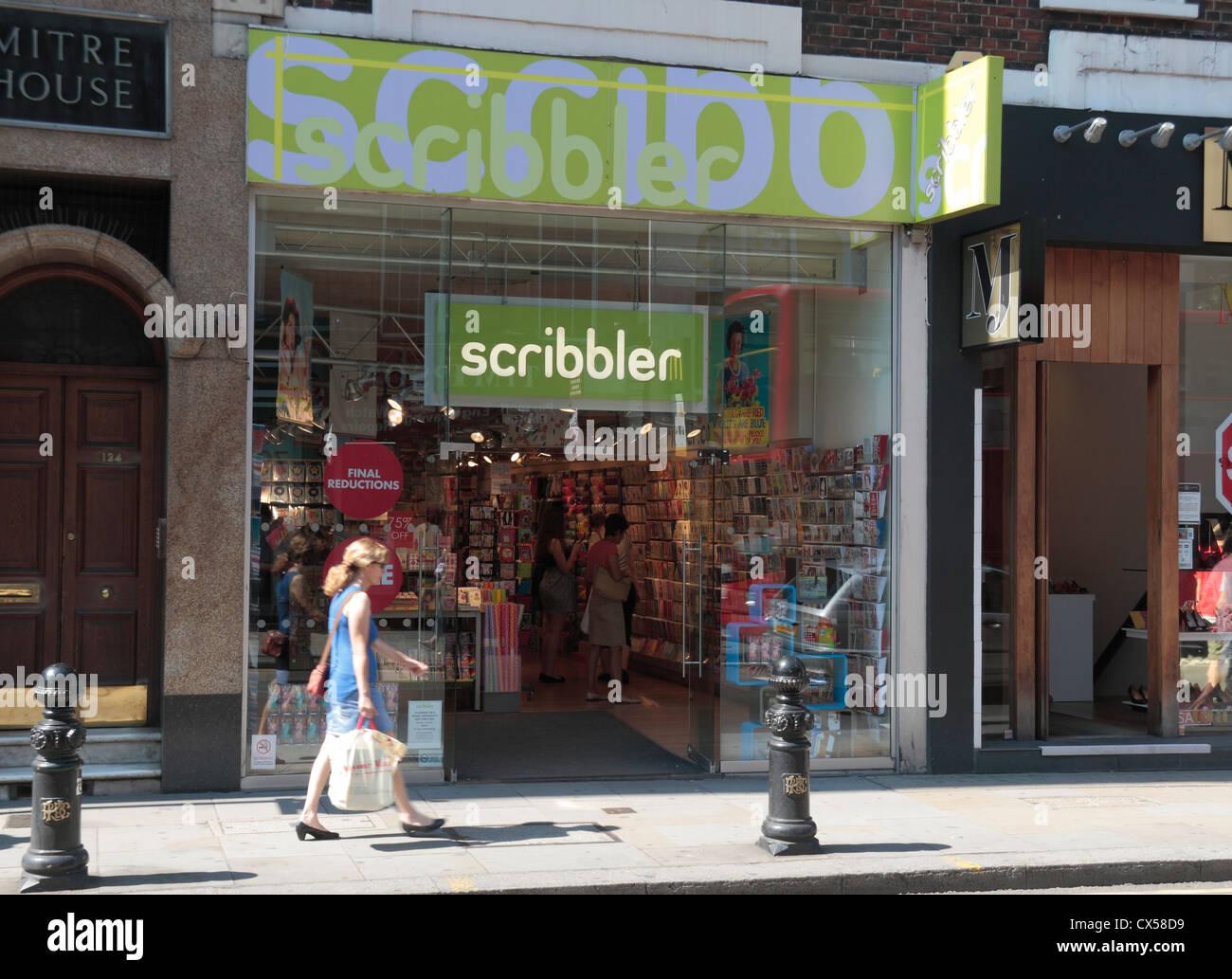 The Scribbler Greetings Card Shop On Kings Road Chelsea London