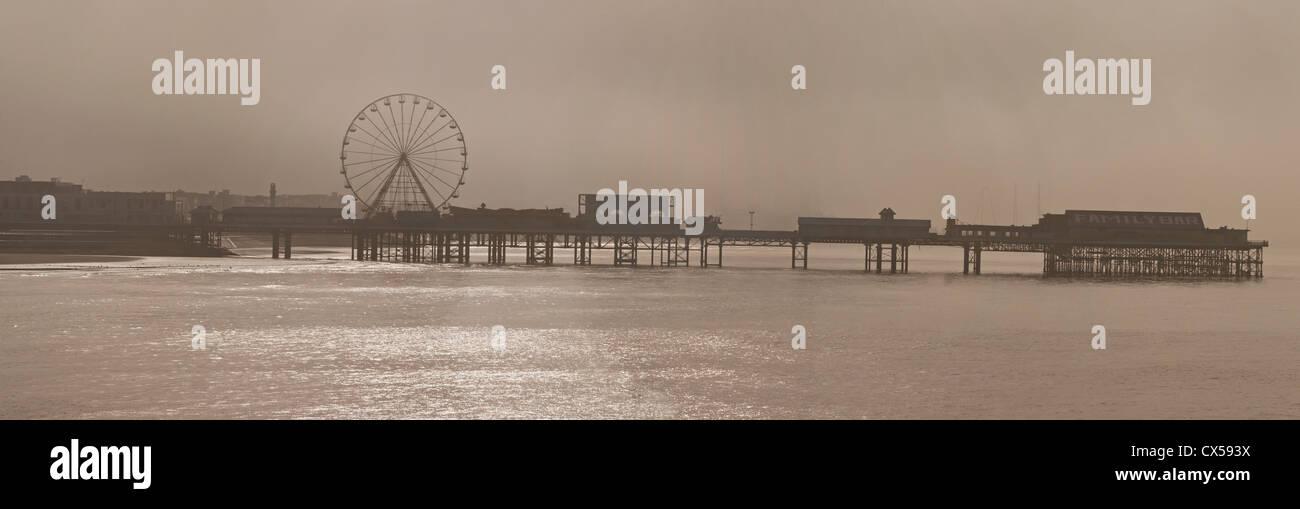 central pier, blackpool, lancashire, england, uk, europe - Stock Image