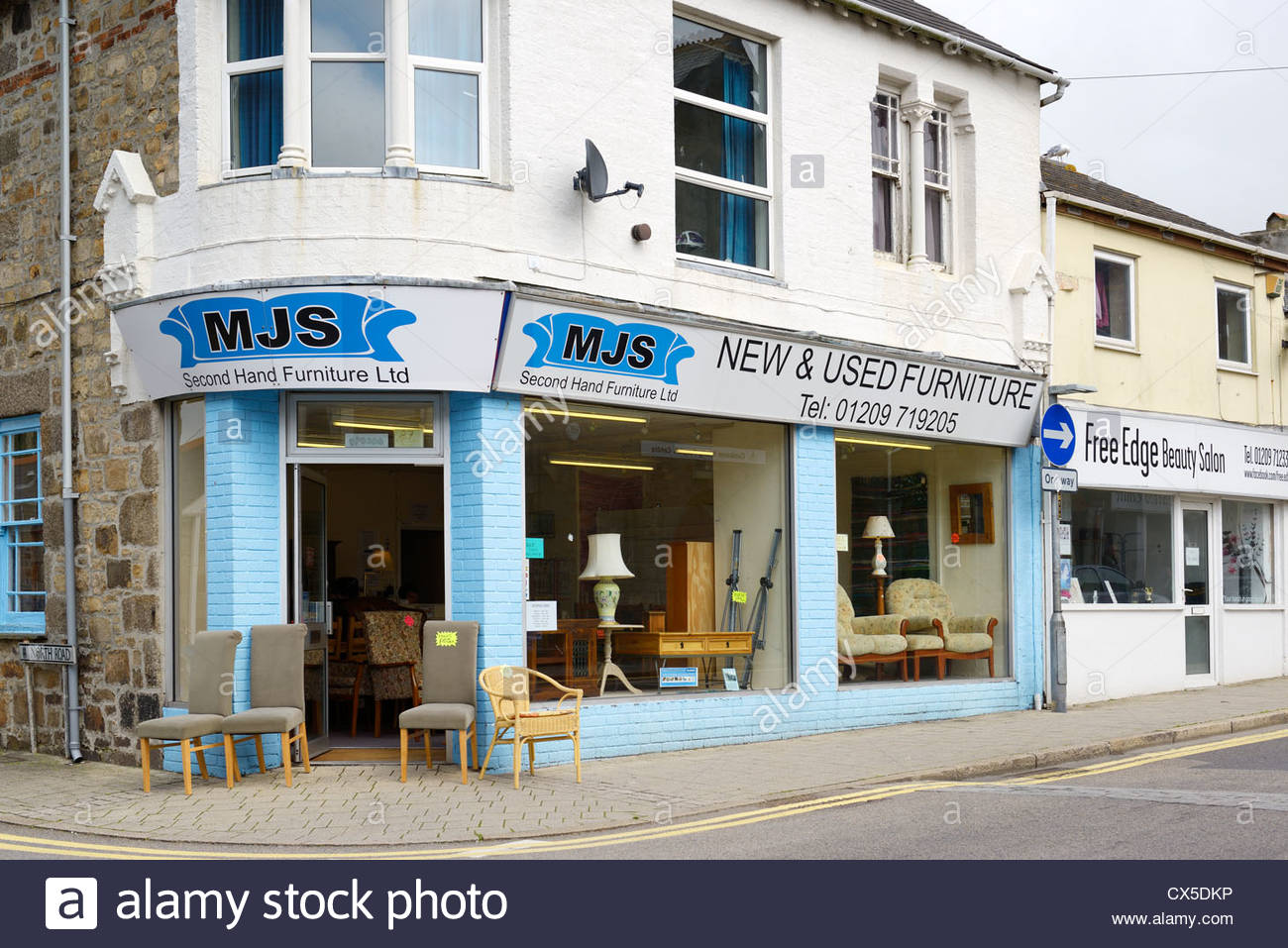 Picture of: Mjs Furniture 2nd Hand Shop Trelowarren Street Camborne Cornwall Stock Photo Alamy
