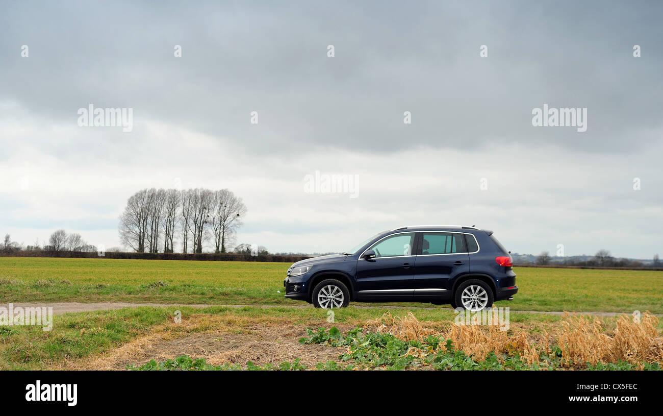 VW Tiguan 4 motion on rural location - Stock Image