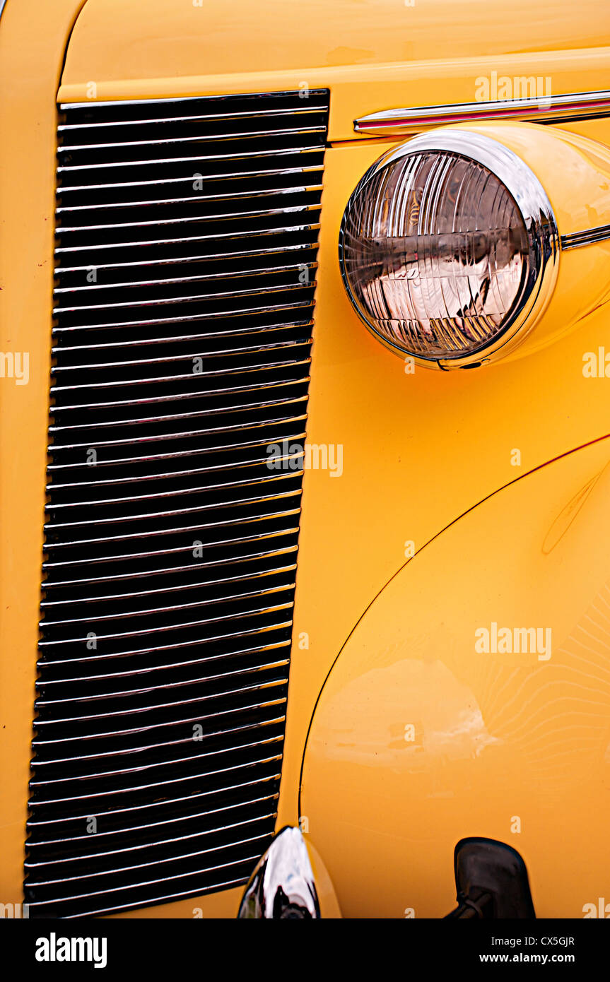 The front nearside of a yellow buick - Stock Image