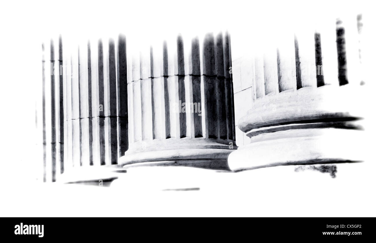 close-up of classical columns - Stock Image