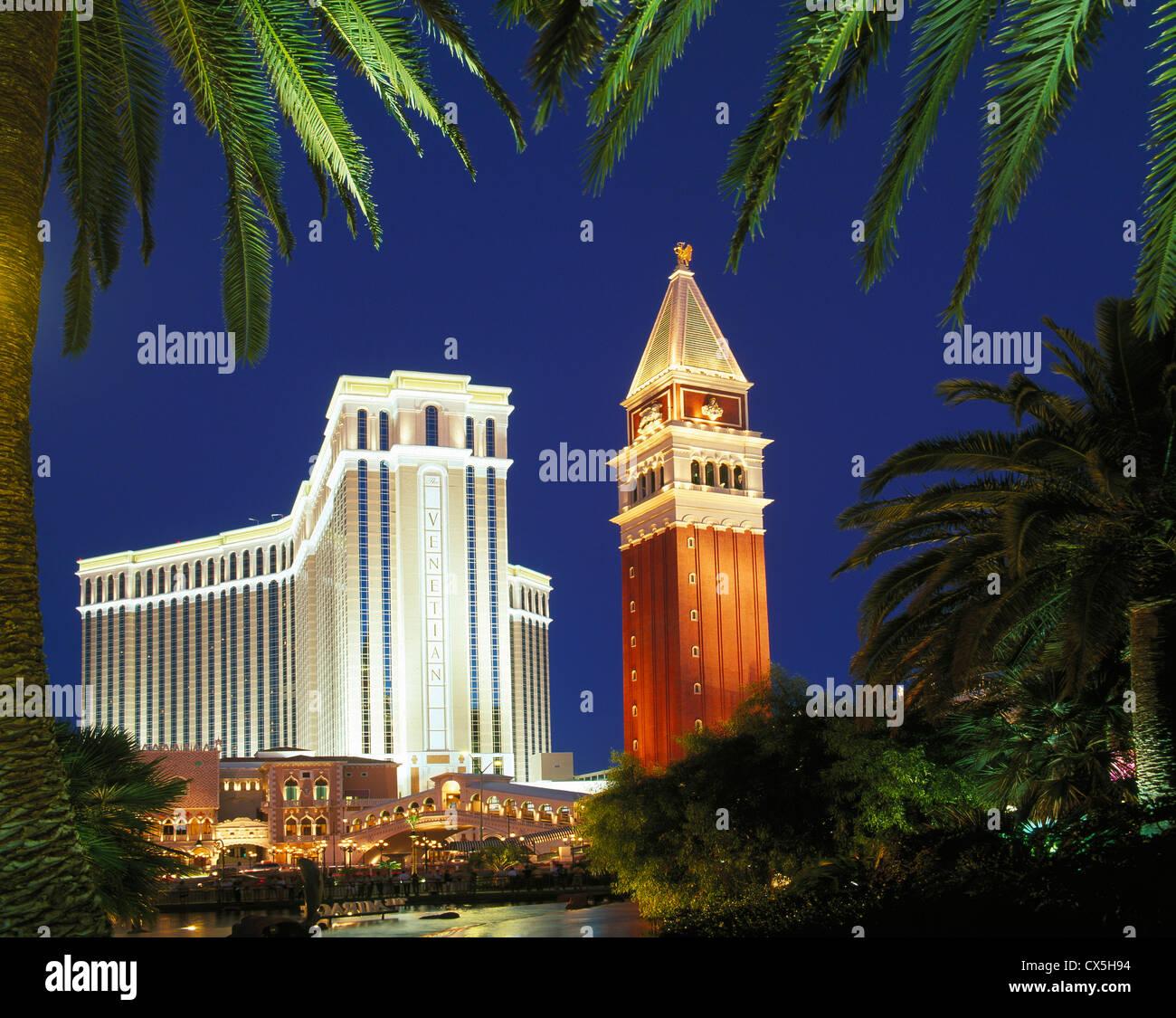 The Venetian Hotel and Casino, Las Vegas, Nevada, USA - Stock Image