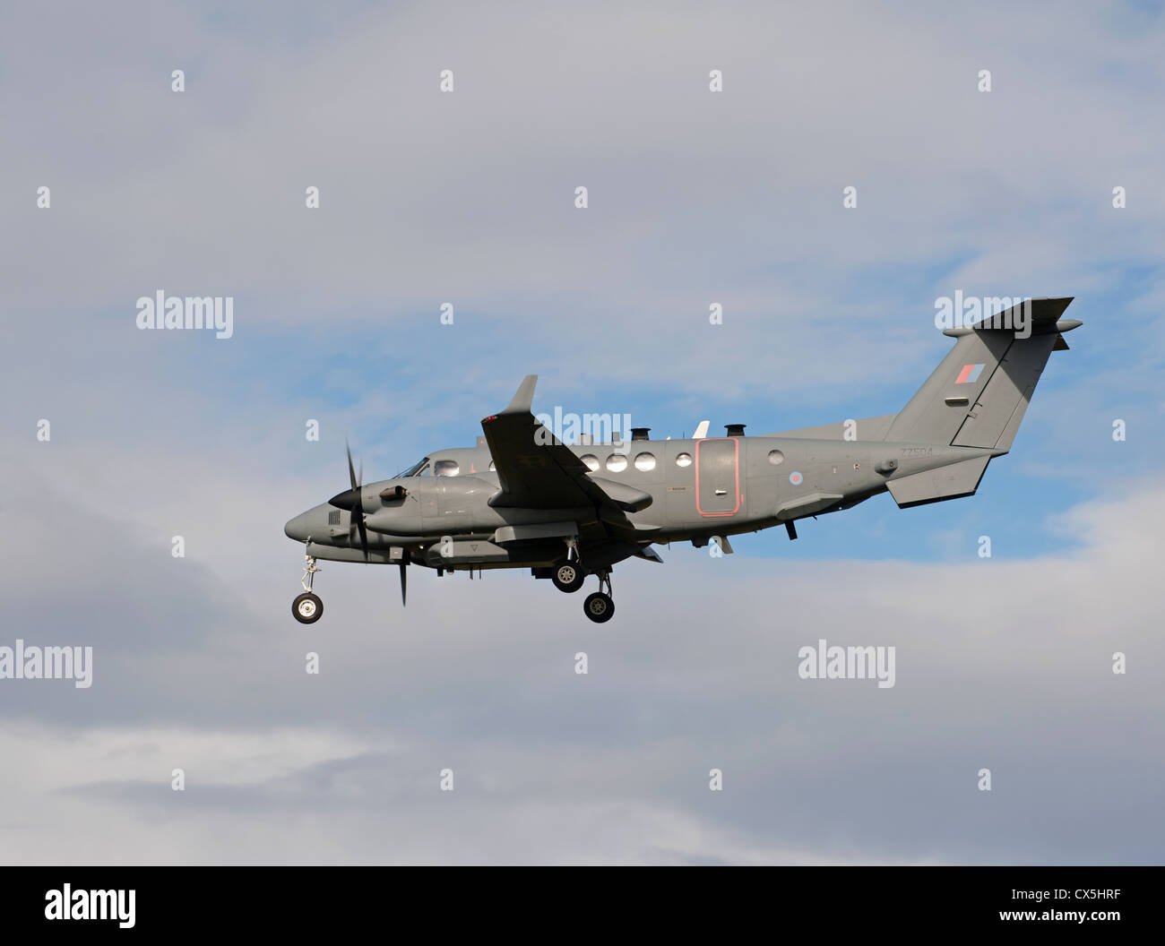 UK-AIR FORCE Hawker Beechcraft Shadow R1. (350CER). RAF Lossiemouth.   SCO 8488 - Stock Image