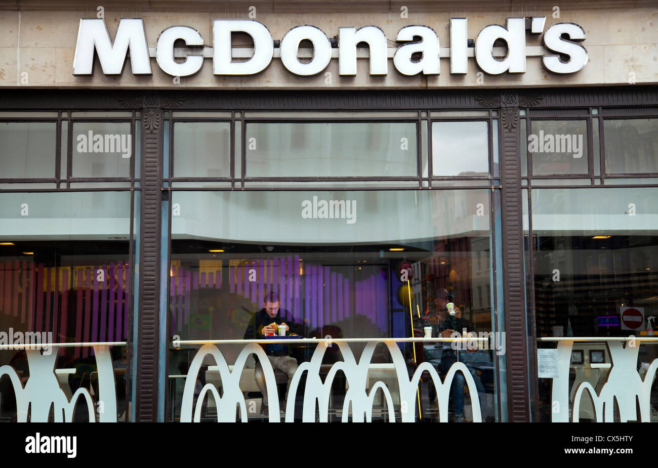 McDonalds in Leicester Square - London - UK - Stock Image