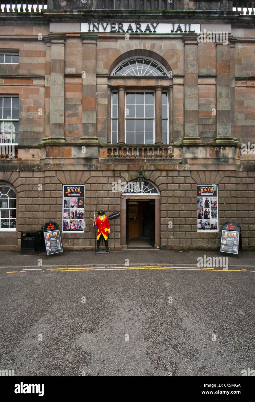 Inveraray Jail And County Court Argyll and Bute Scotland - Stock Image