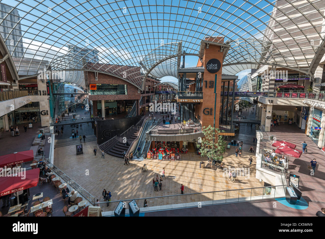 f33b5e1a34457 INTERIOR OF CABOT CIRCUS SHOPPING CENTRE SHOWINGGLASS ROOF AND SHOPPING  LEVELS