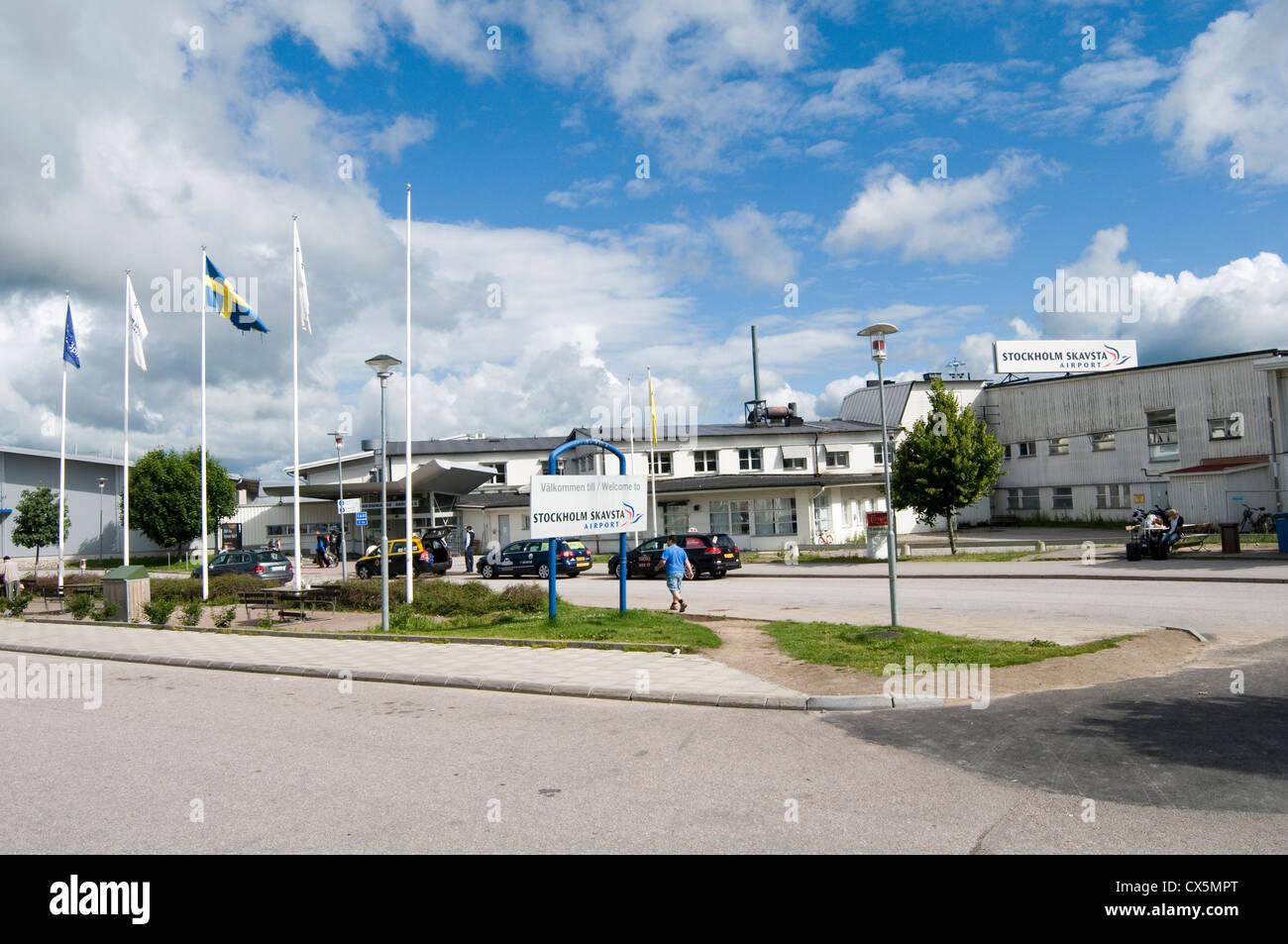 skavsta airport stockholm sweden swedish airports - Stock Image