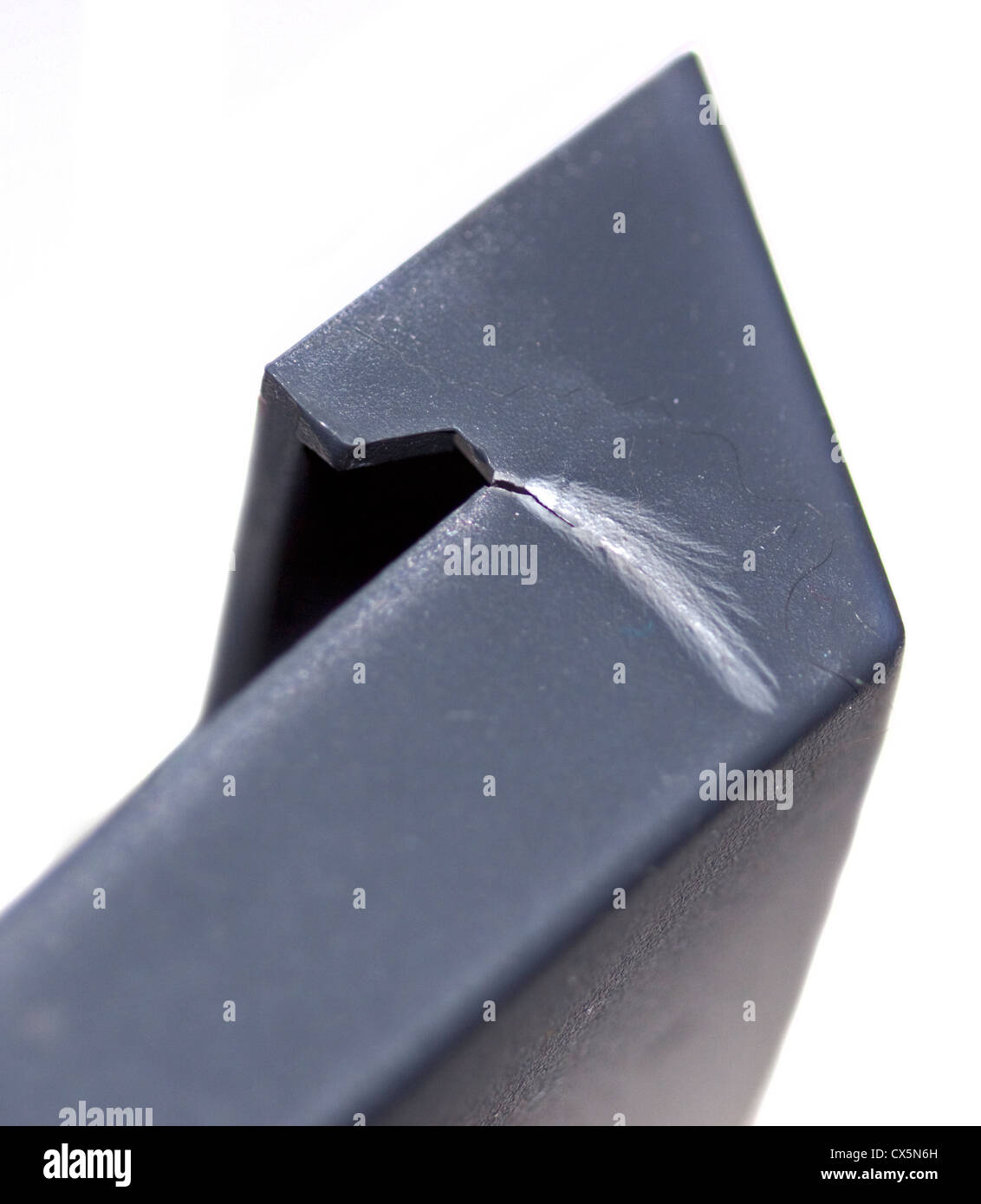 Plastic Hinge showing Stress Fracture - Stock Image