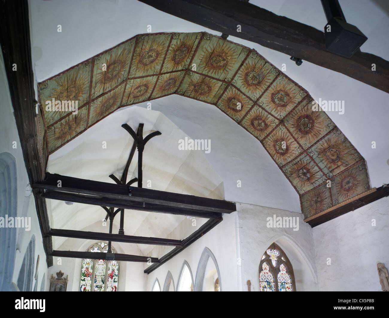 Rainham, Kent. St Margaret's ceiling panels - Stock Image