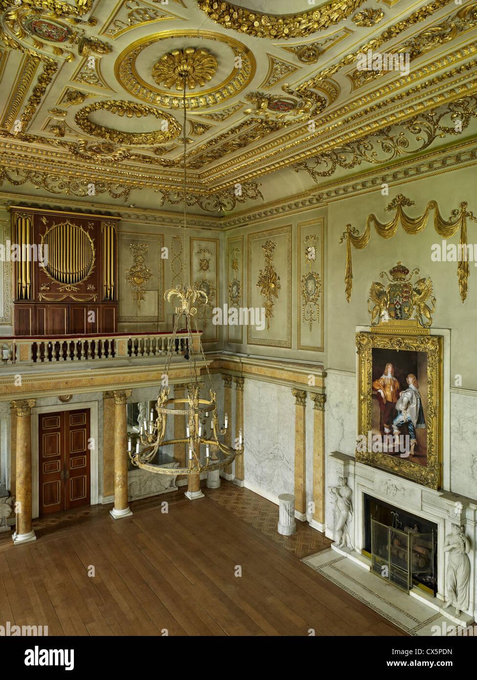 Cobham Hall, Kent. The Gilt Hall - Stock Image
