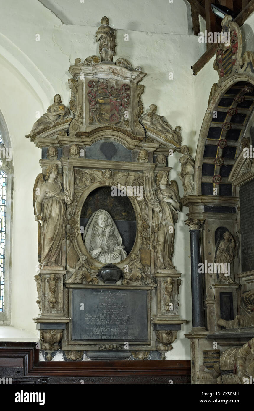 Ightham, Kent. St Peter's, monument to Dorothy Selby - Stock Image