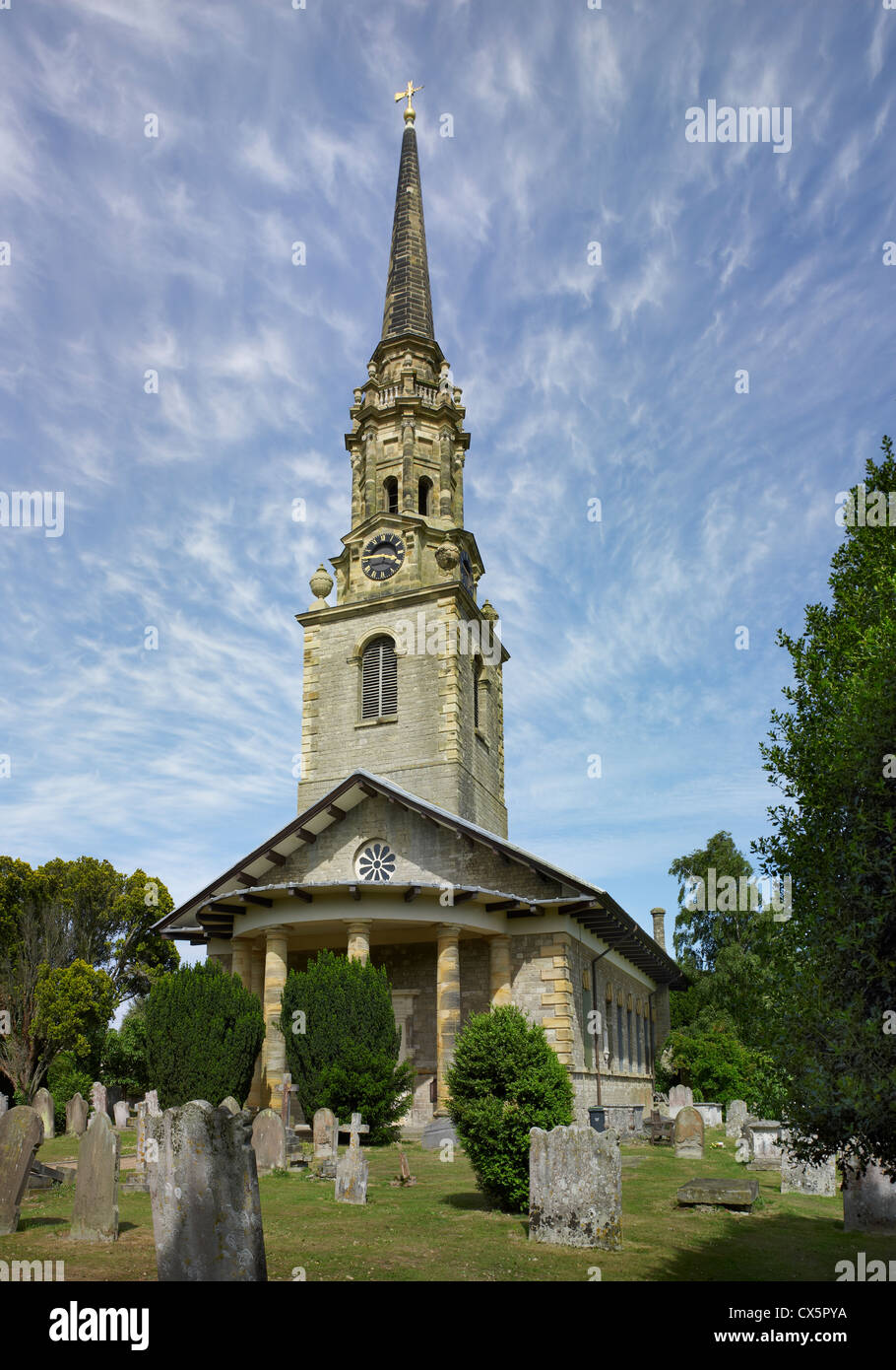 Mereworth, Kent. St Lawrence exterior - Stock Image