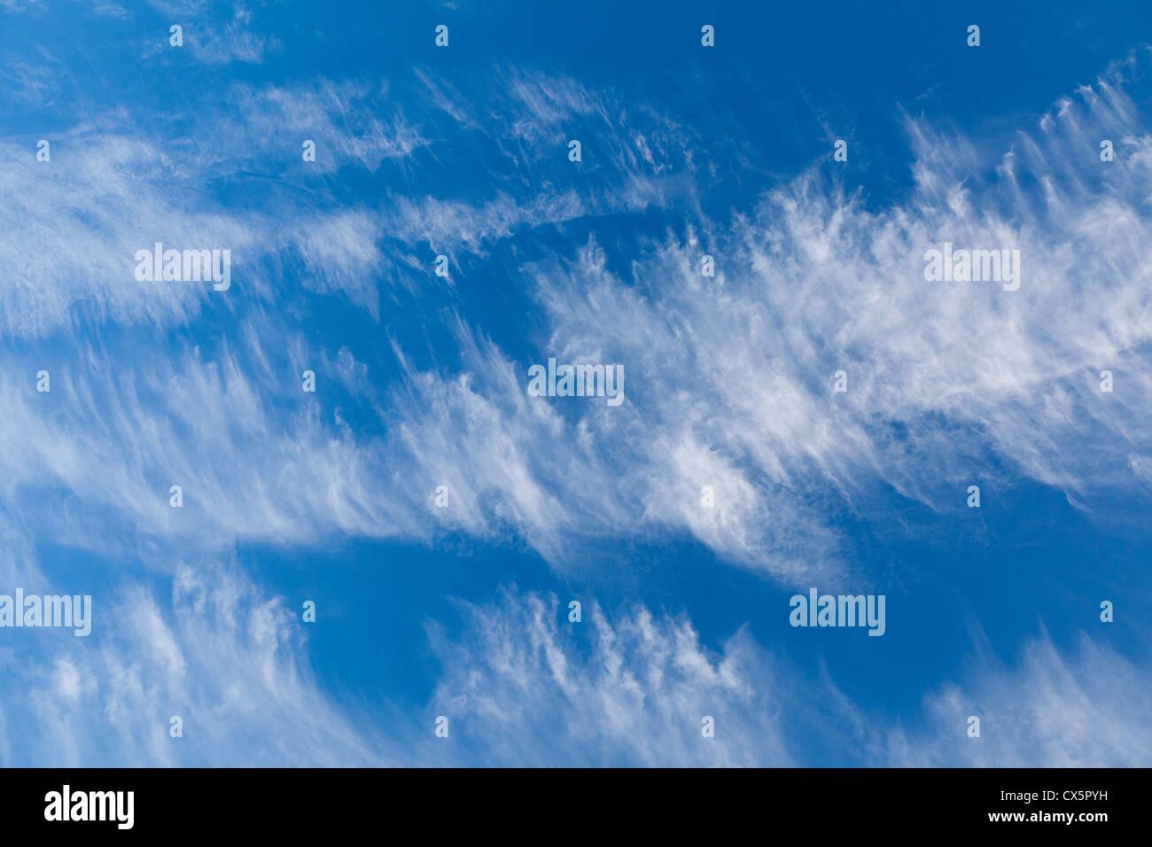 Evening clouds over Exmoor - Stock Image