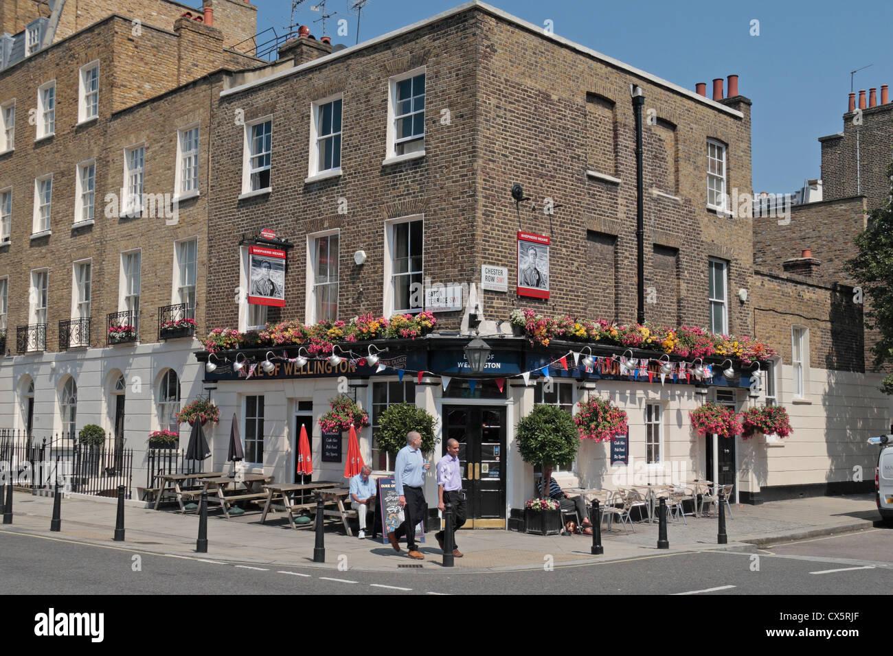 The Duke of Wellington public house, Eaton Terrace, City of Westminster, London, SW1, UK. - Stock Image