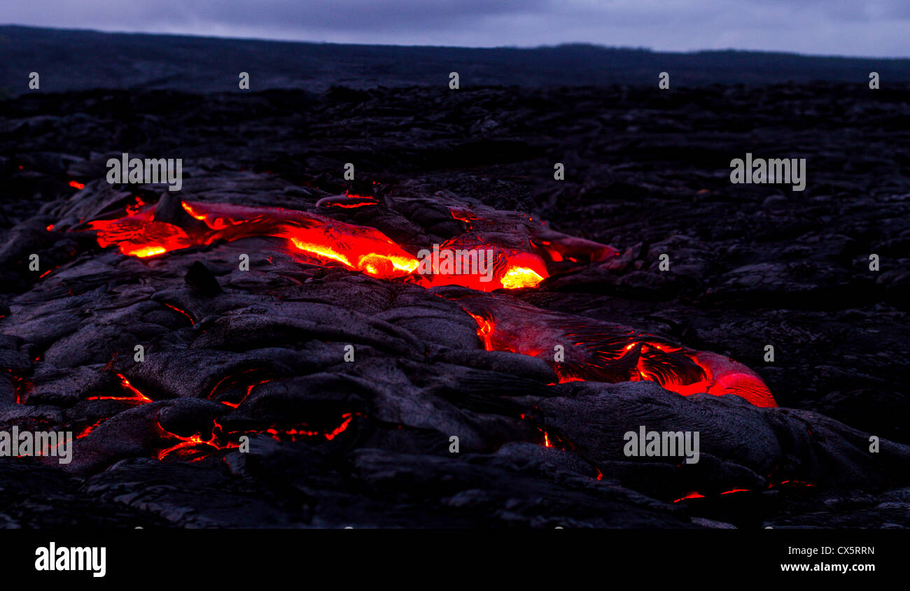 hawaii volcano - Stock Image