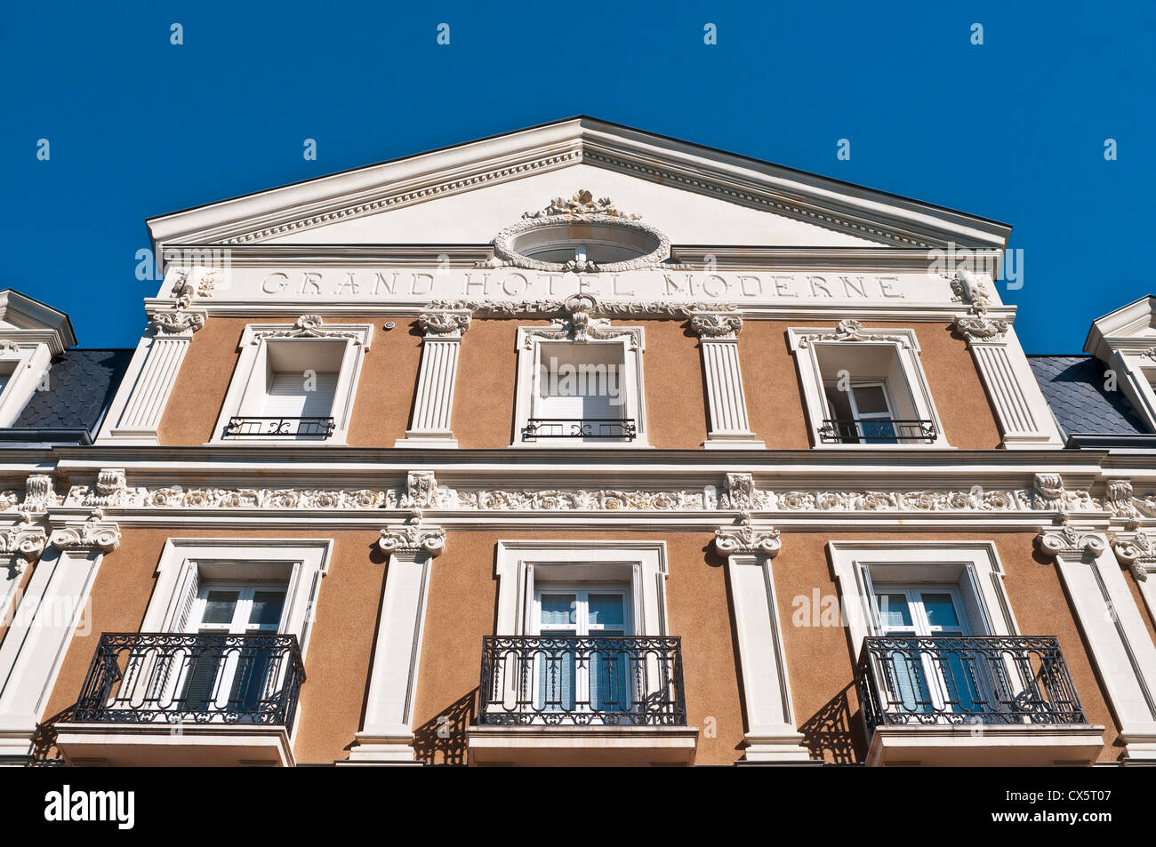 'Grand Hotel Moderne' classical architectural building - France. - Stock Image