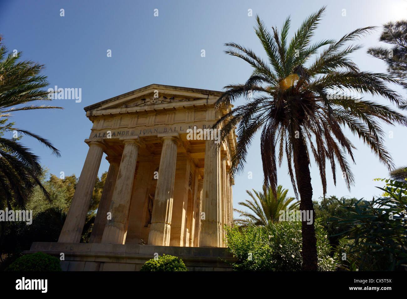 Barrakka gardens, Valletta, Malta - Stock Image