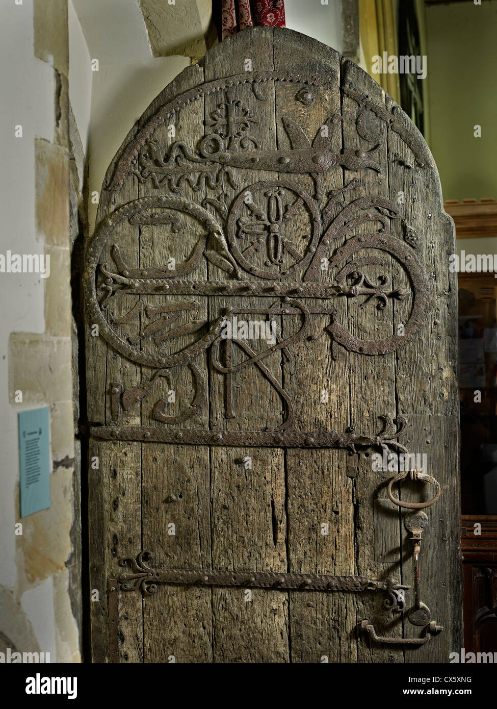 Staplehurst, Kent. All Saints Church south door - Stock Image