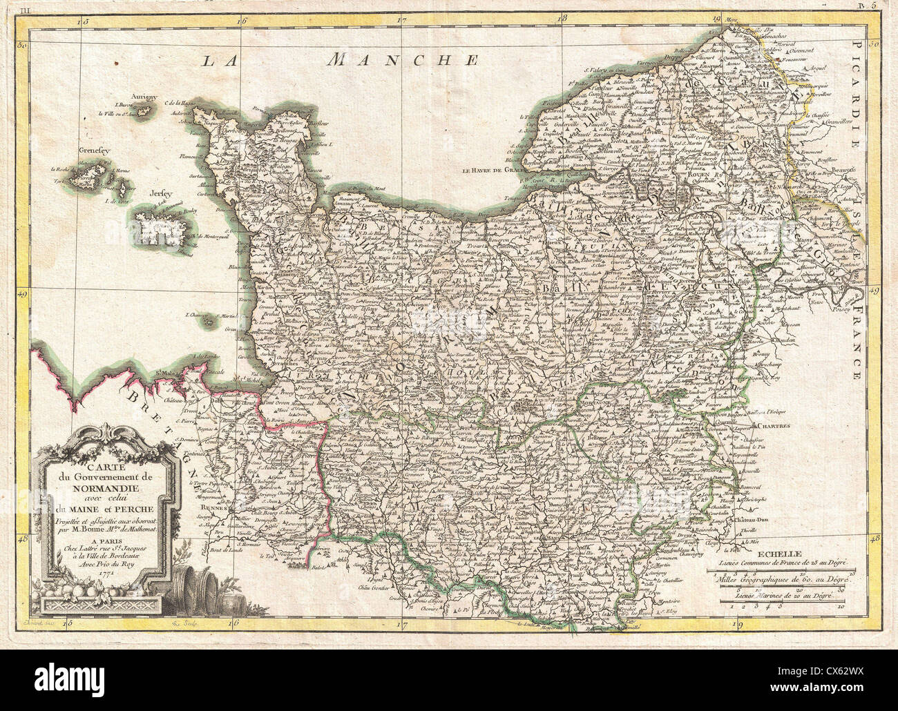 Map normandy france stock photos map normandy france stock images 1771 bonne map of normandy france stock image gumiabroncs Gallery