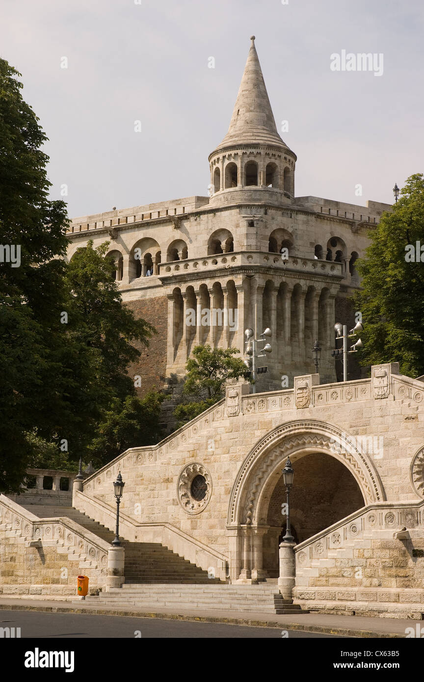 Elk190-1146v Hungary, Budapest, Buda, Castle Hill, Fisherman's Bastion, 1905, fortifications - Stock Image