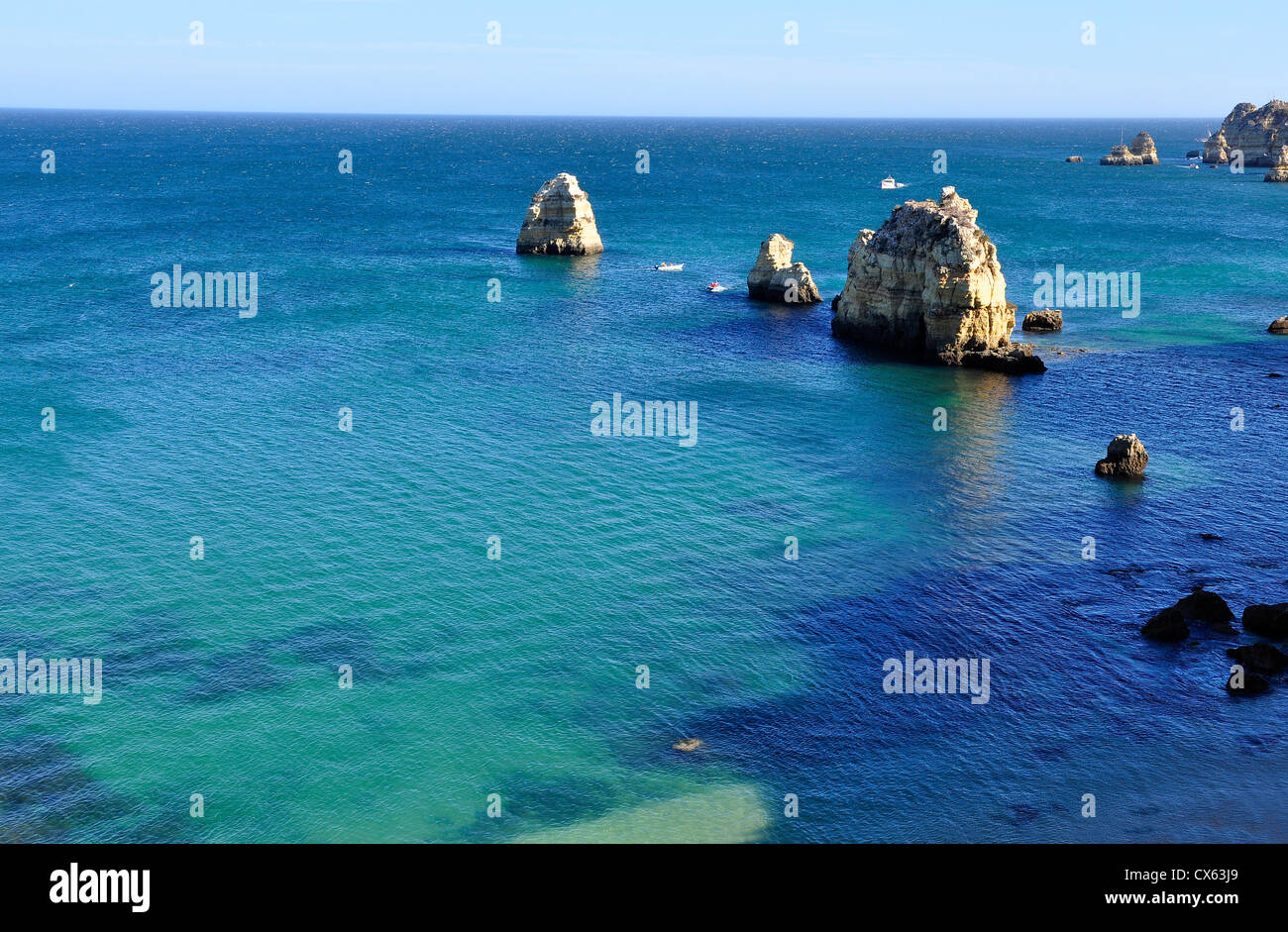 Seascape of Ponta da Piedade in Algarve, Portugal Stock Photo