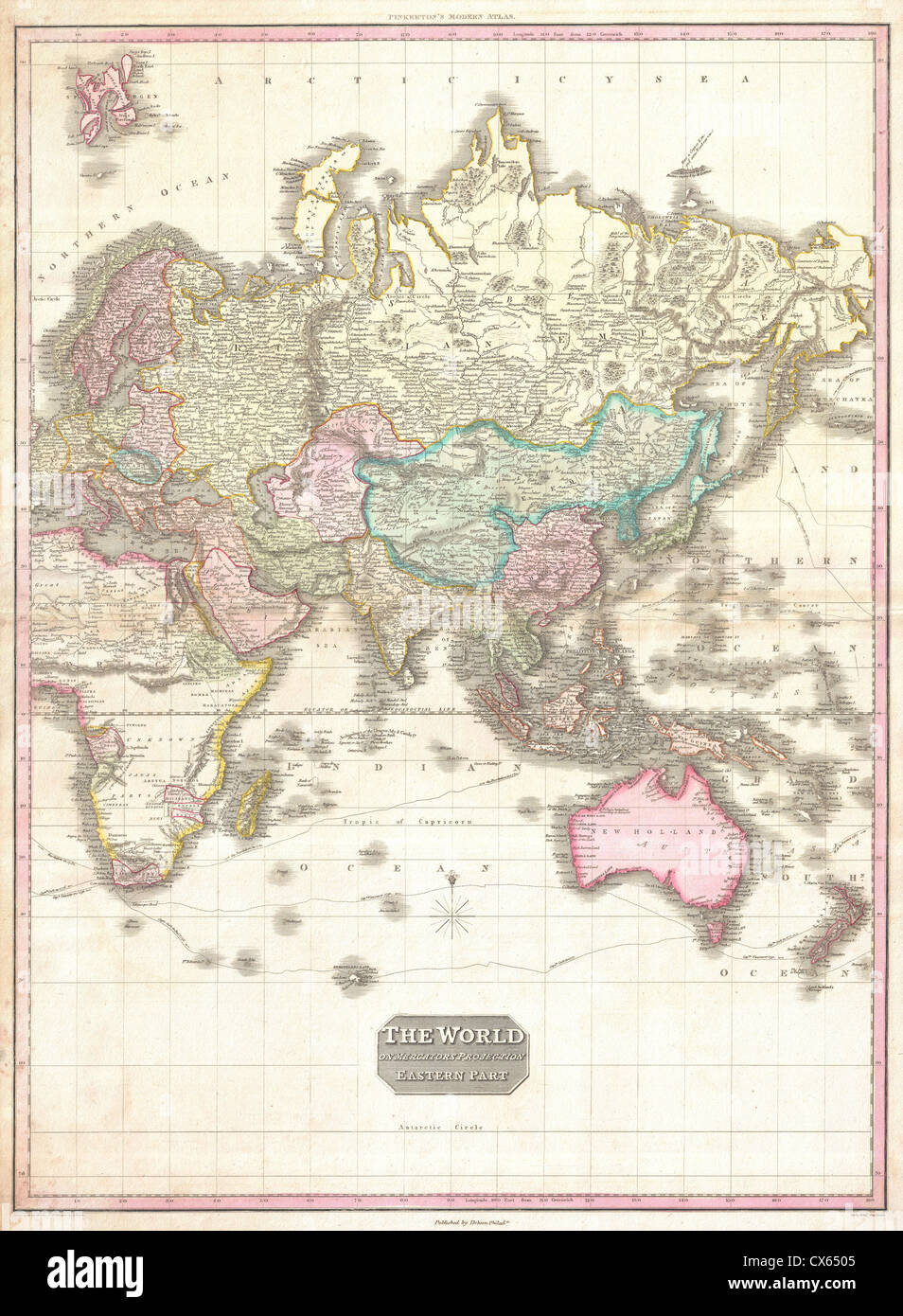 1818 Pinkerton Map of the Eastern Hemisphere ( Asia , Africa ...