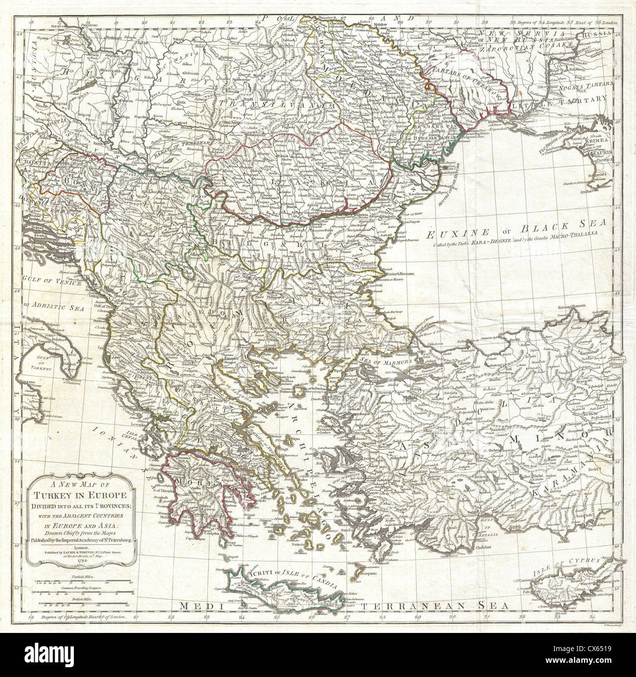 Map of greece and turkey stock photos map of greece and turkey 1794 laurie and whittle map of greece turkey andamp the balkans stock image gumiabroncs Gallery