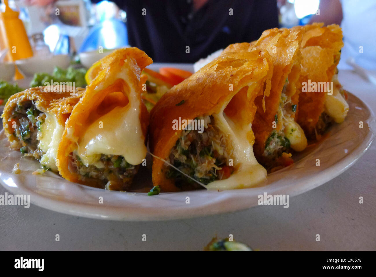 Empanada Seafood Restaurant San Jose Baja Mexico Stock
