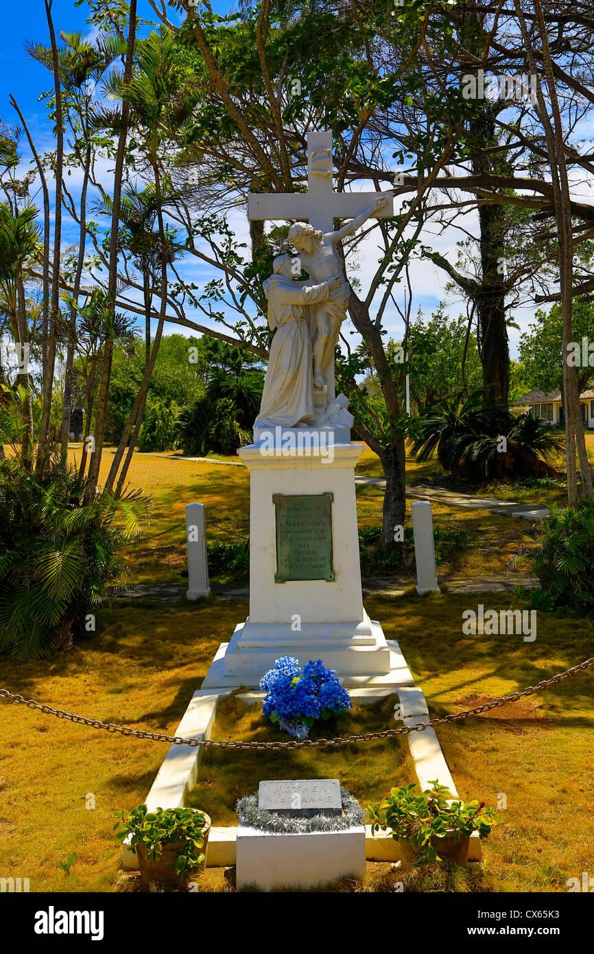 Mother Marianne Cope, gravesite, Kalaupapa Peninsula, Molokai, Hawaii - Stock Image