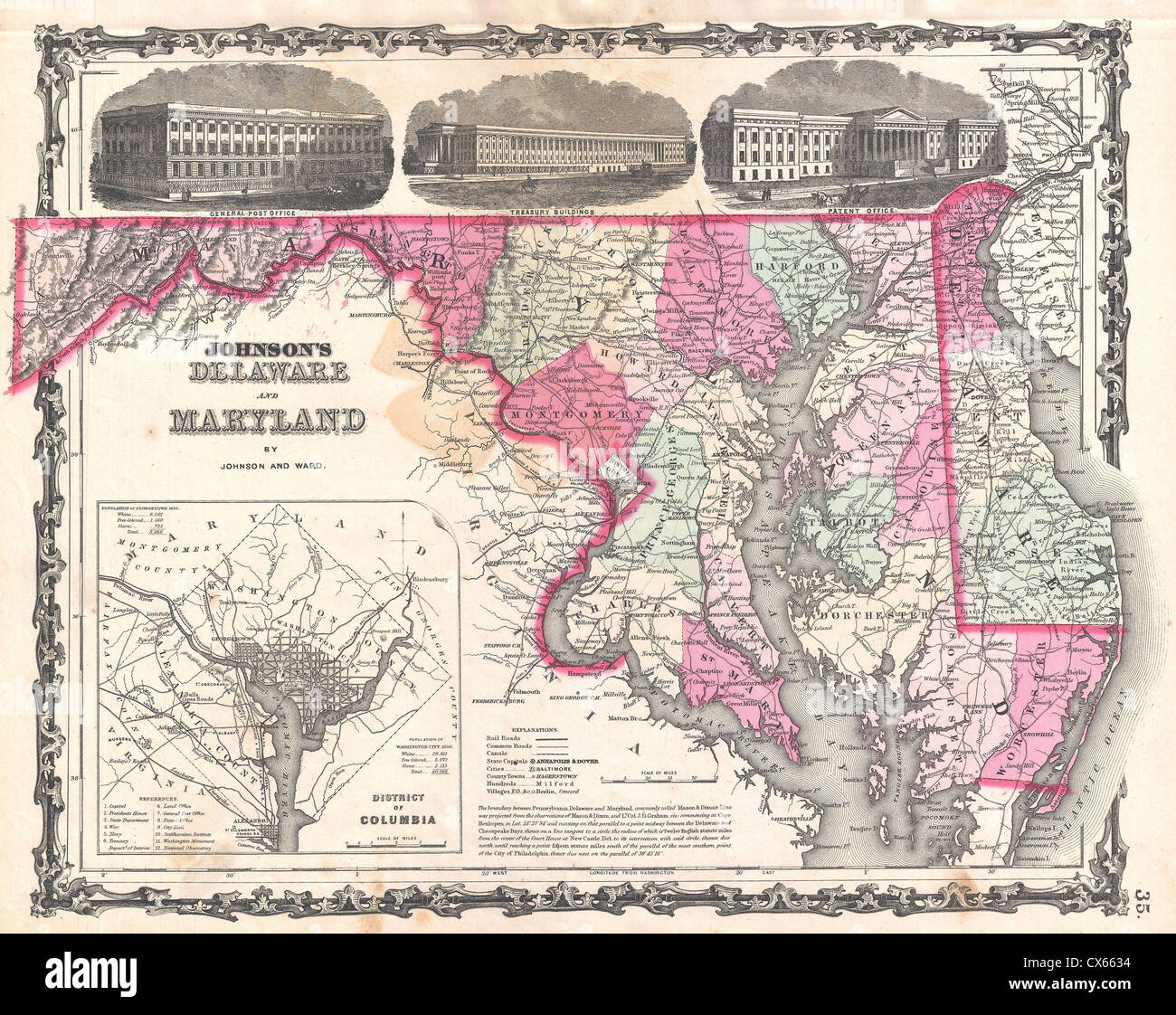 Old Map Maryland Stock Photos & Old Map Maryland Stock Images - Page ...