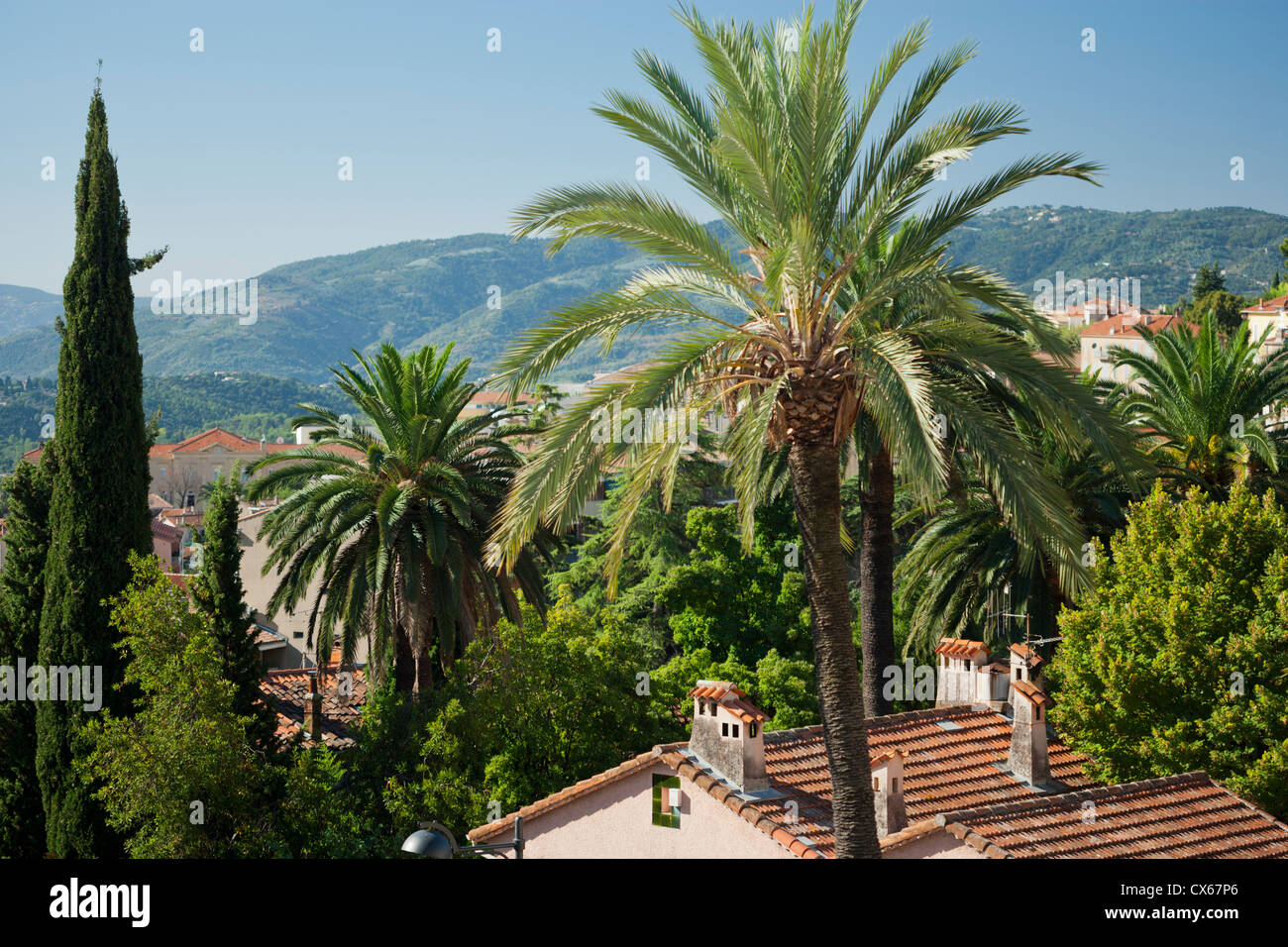 Town of Grasse in Southern France famous for its perfume industry. - Stock Image