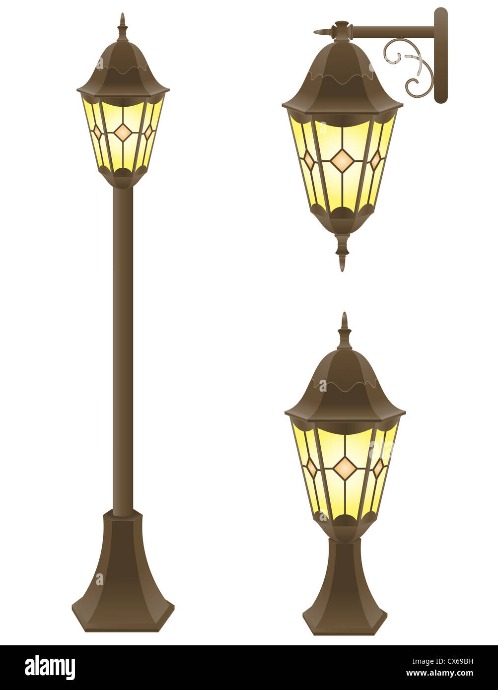 streetlight vector illustration isolated on white background Stock Photo