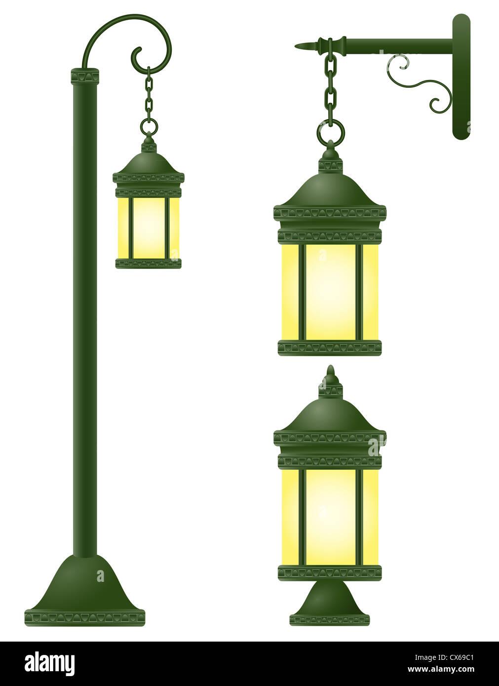 streetlight vector illustration isolated on white background Stock Photo
