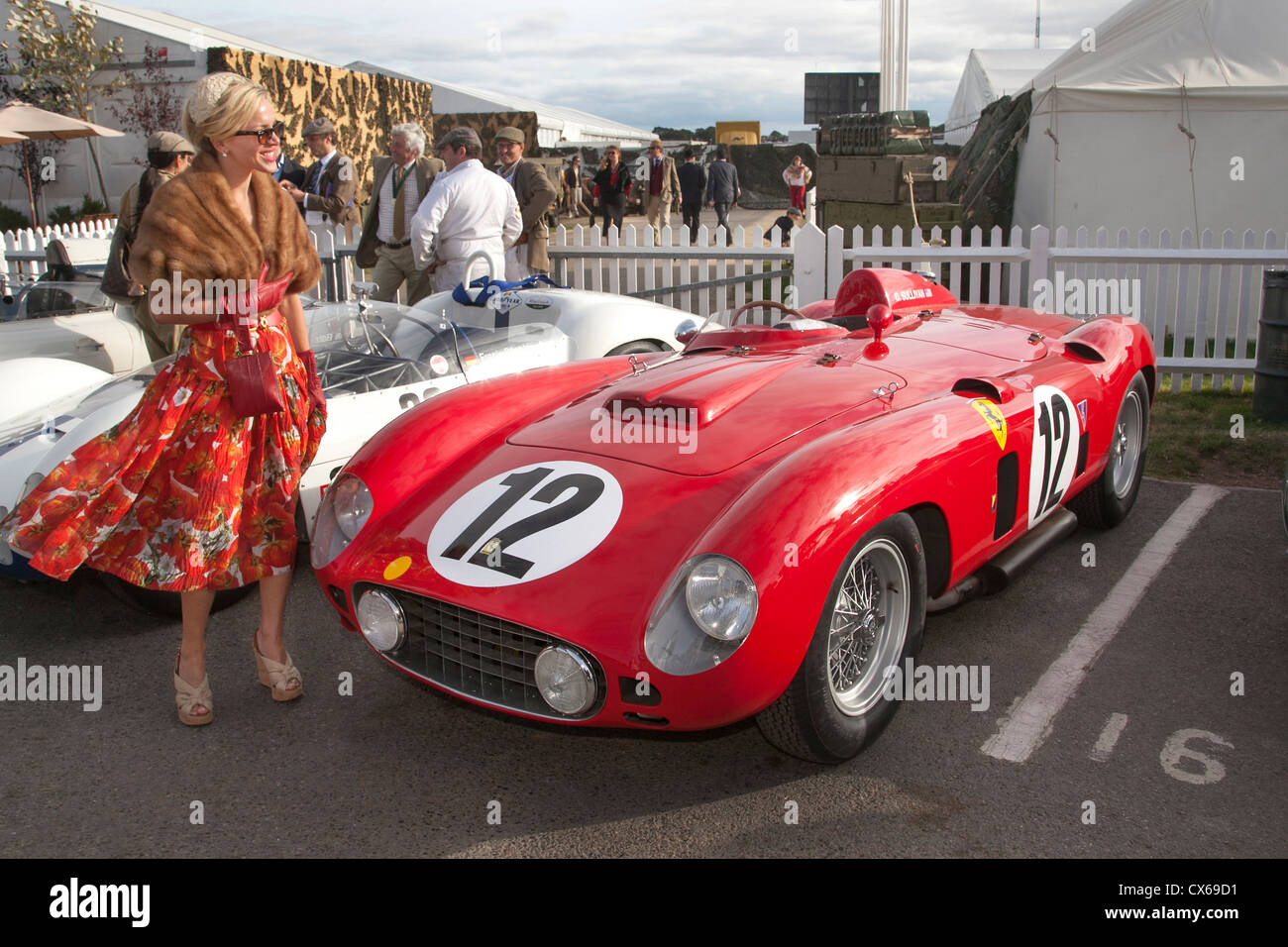 Ferrari Owner At Goodwood Revival 1956 860 Monza Stock