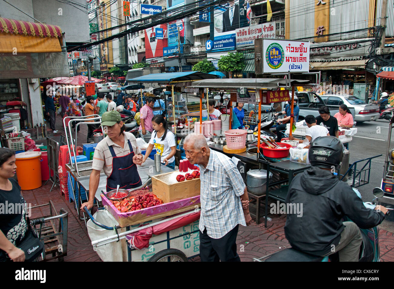 chinatown street market bangkok thailand thai food stock photo 50543583 alamy. Black Bedroom Furniture Sets. Home Design Ideas
