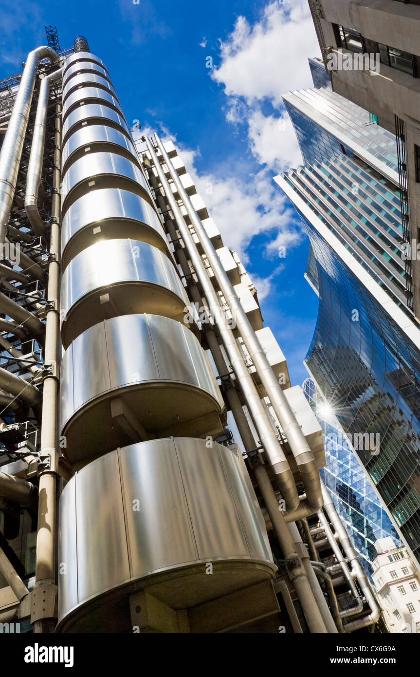 Lloyd's of London insurance building Lime Street City of London UK GB EU Europe - Stock Image