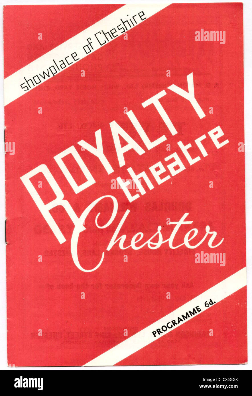 000651 - The Beatles 1963 Chester Concert Programme - Stock Image