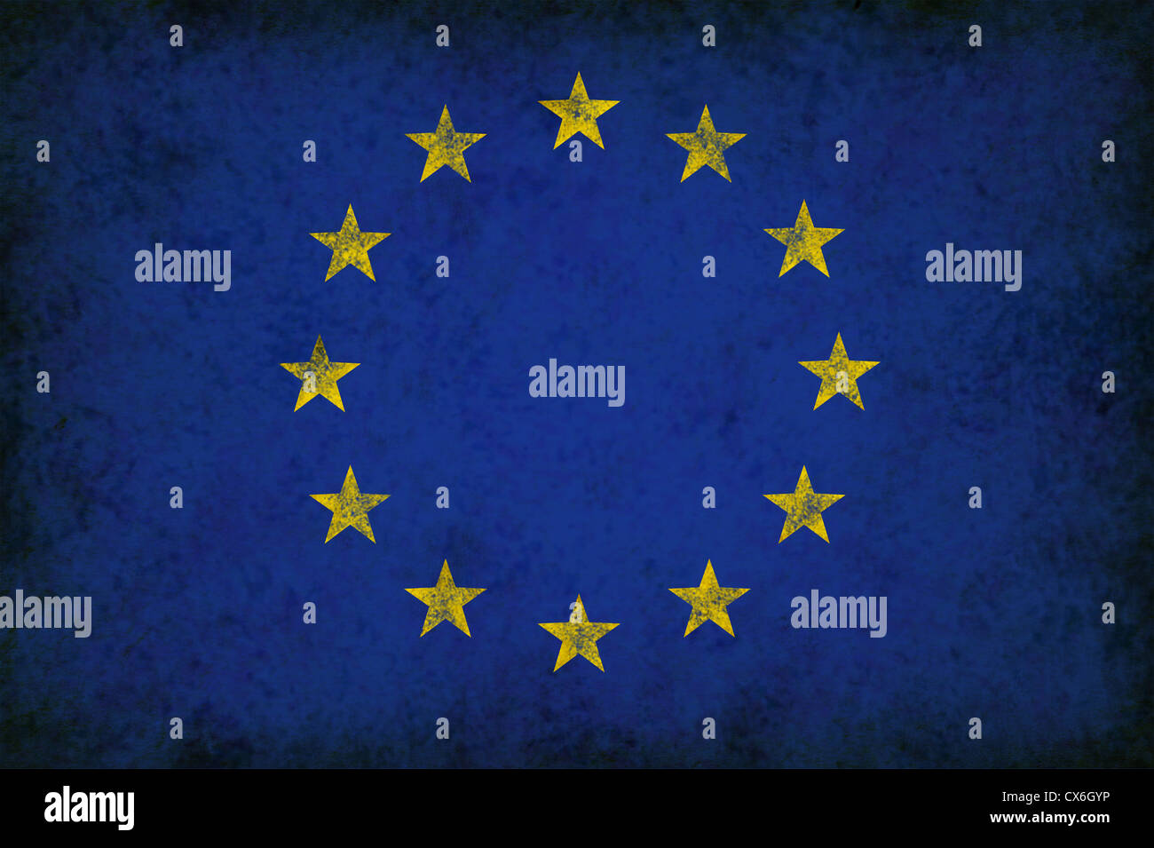 0525f41672cbf Grunge Great Europe Flag as an old vintage European symbol of unity and  English French German