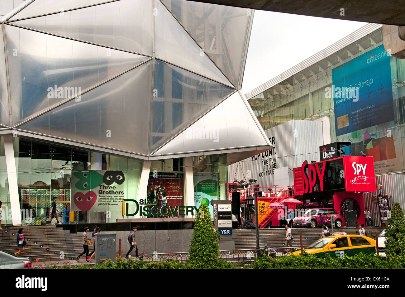 Siam Discovery Bangkok Thailand Thai shopping quarter mall Pathumwan Siam Square district Center - Stock Image