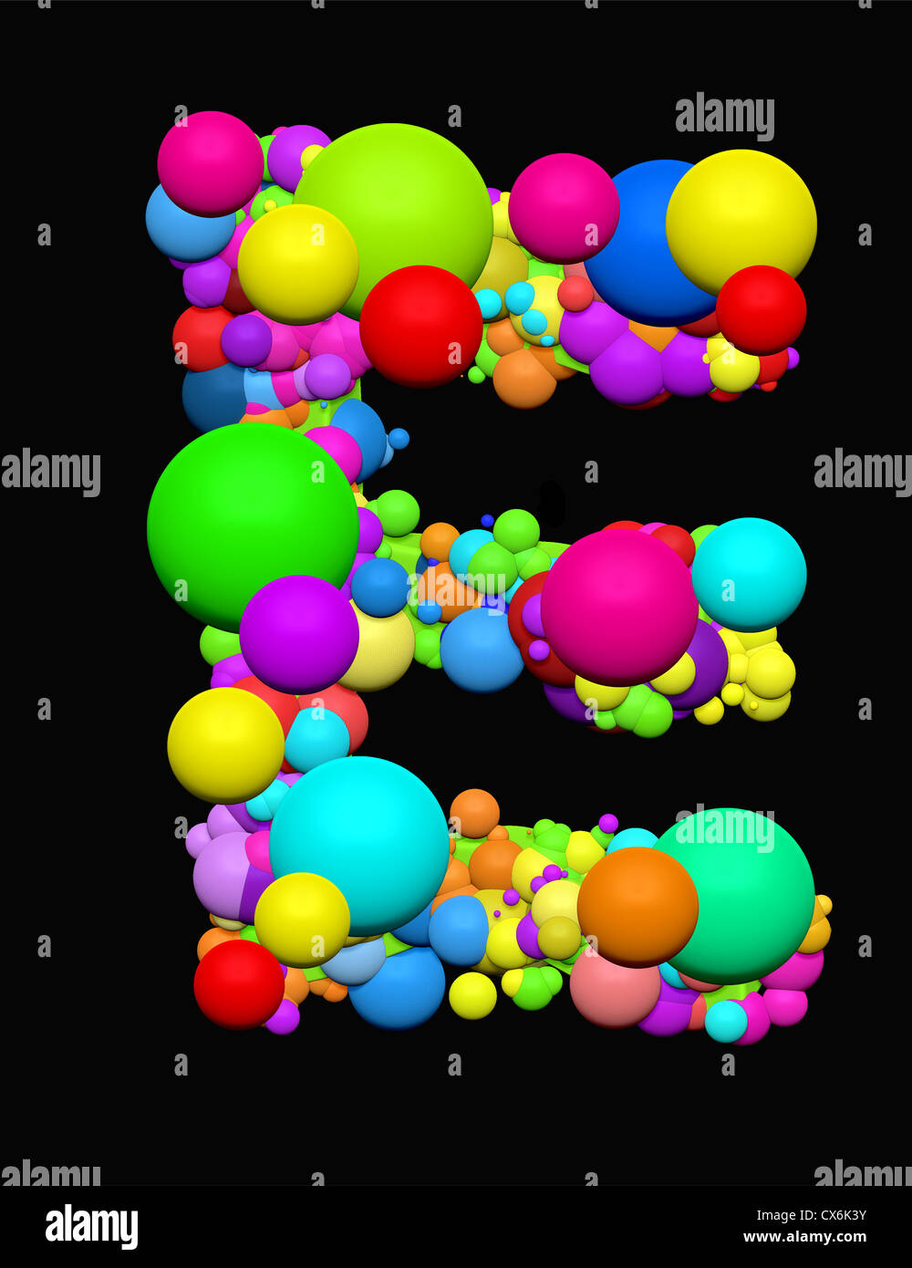alphabet letter sign abc symbol 3d3d graphics illustration e sign e balls bubbles letter e