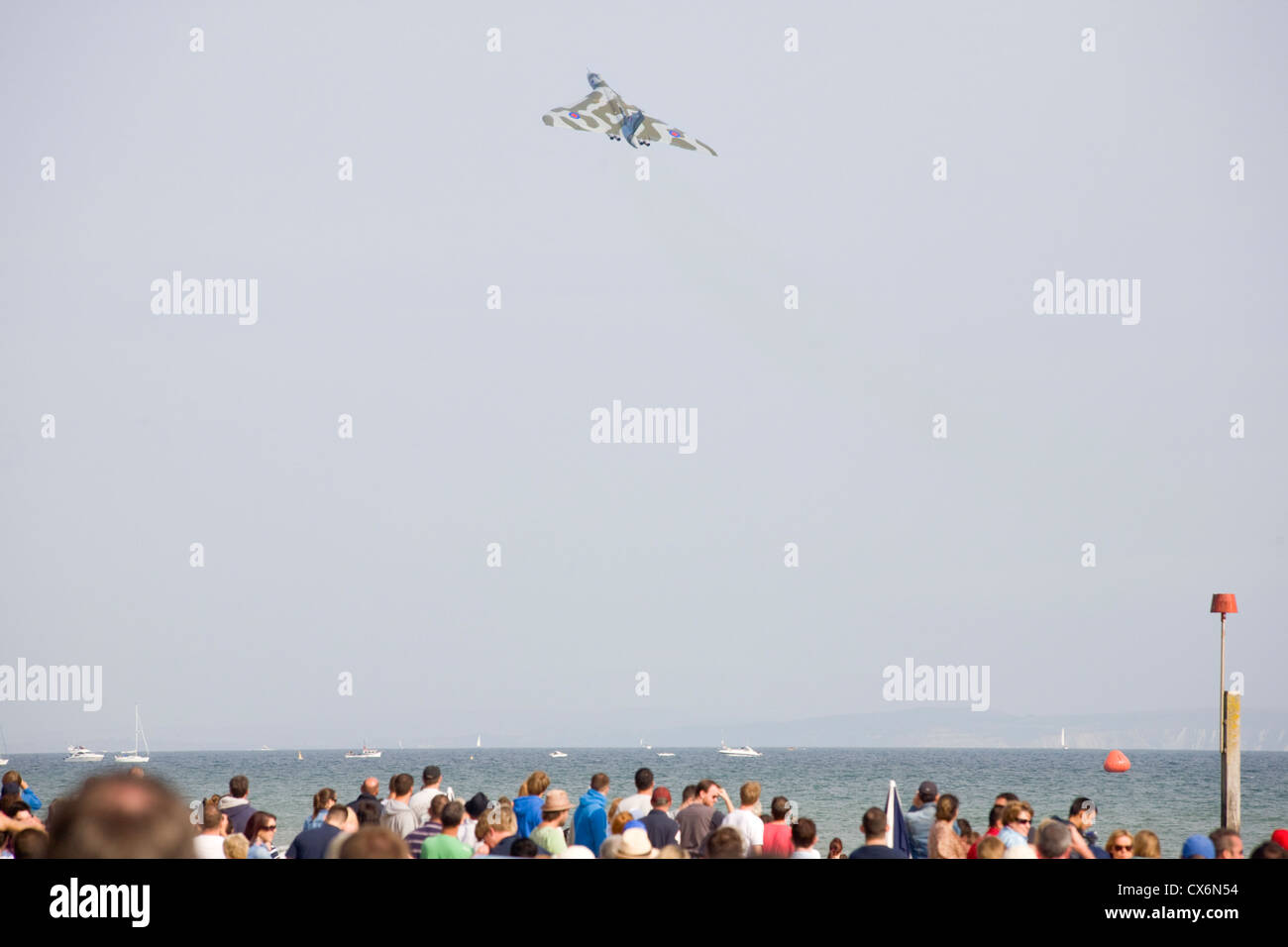 Vulcan bomber at the Bournemouth airshow 2012 - Stock Image