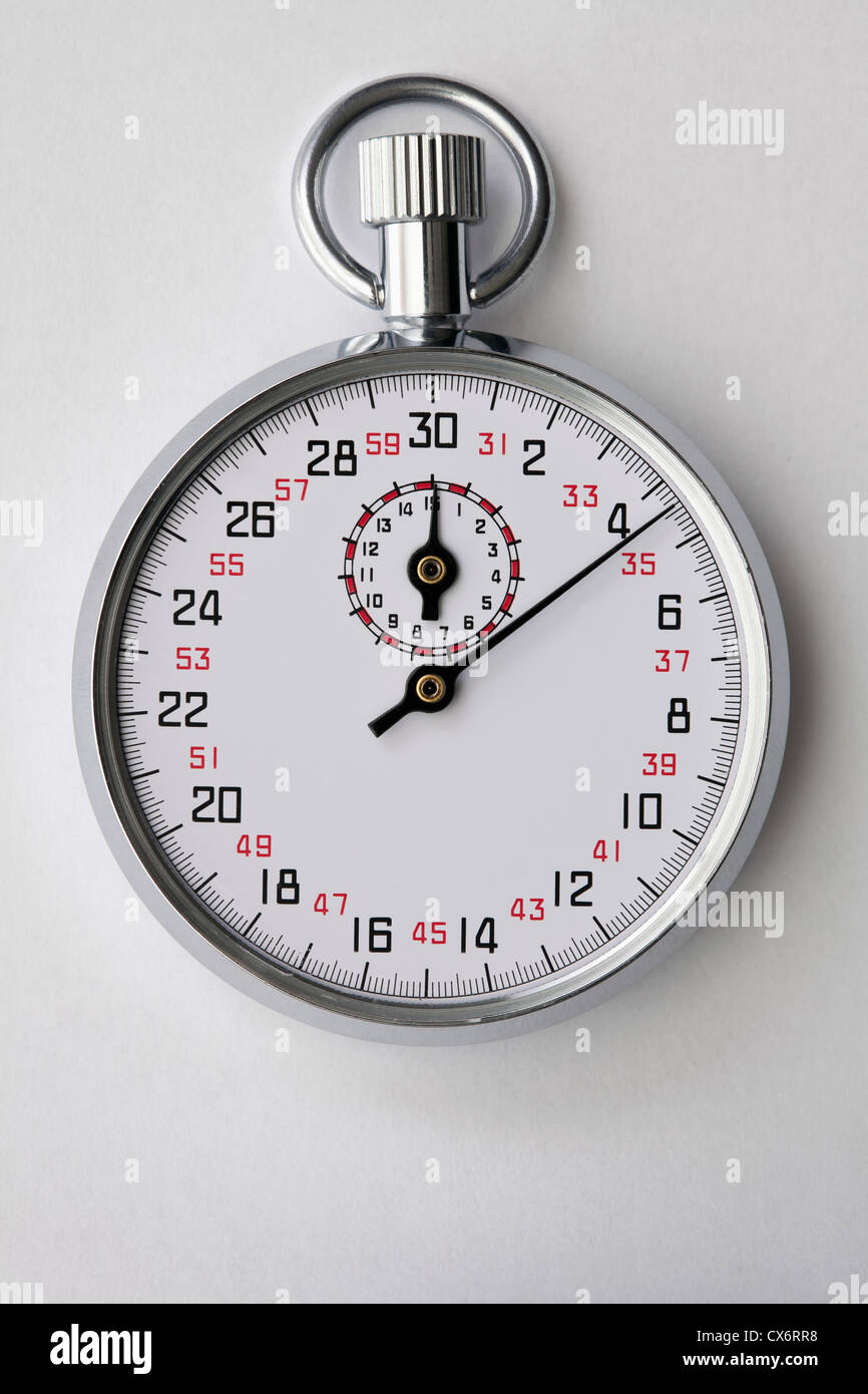 A moving stopwatch - Stock Image