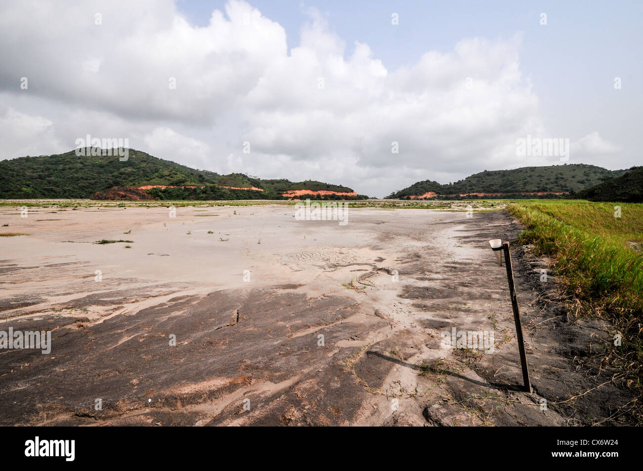Filled Tailings Pond in Ghanaian Mining Operation - Stock Image
