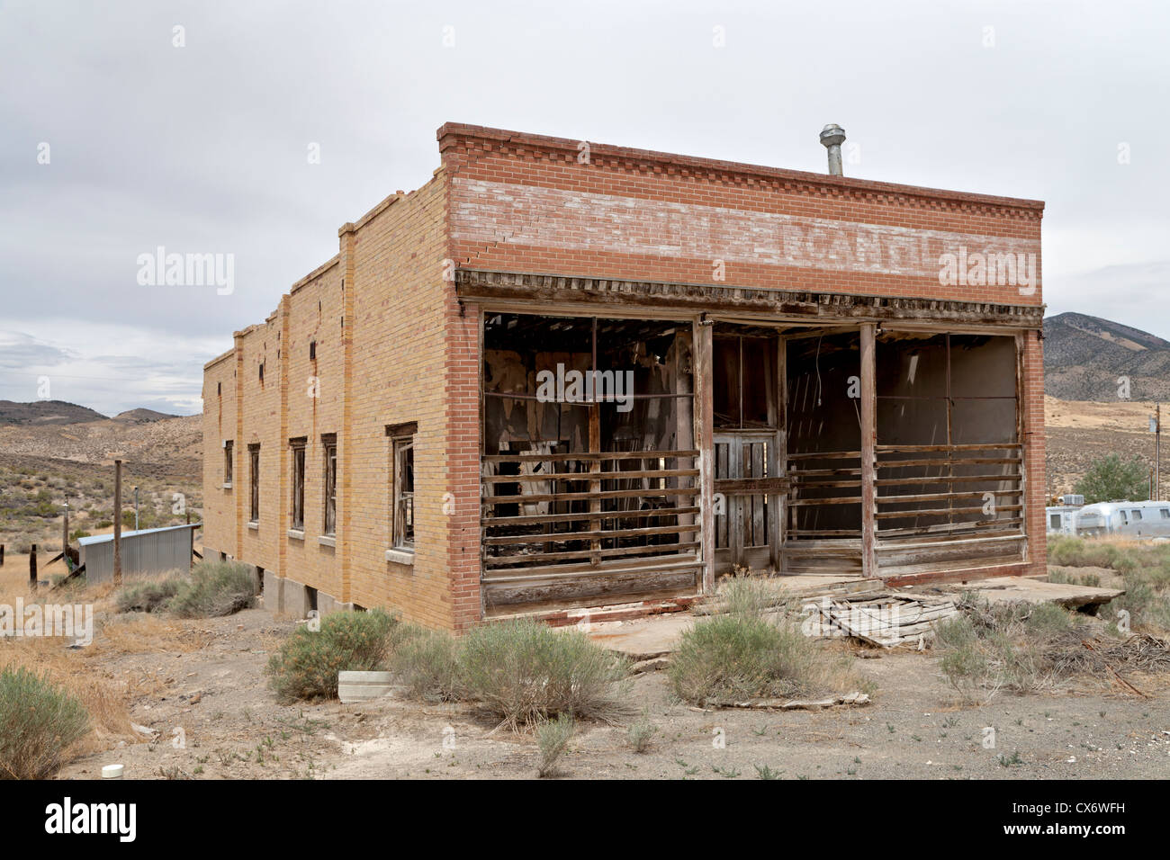 Goodwin Mercantile Building in the mining town of Gold Hill, Utah. - Stock Image